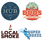 This is the restaurant logo for Duos & Local Smoke