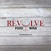 This is the restaurant logo for Revolve Food Wine