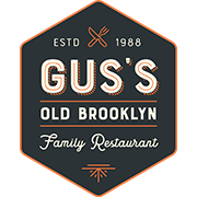 This is the restaurant logo for Gus's Old Brooklyn Family Restaurant