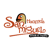 This is the restaurant logo for Hacienda San Miguel: House of Tequila