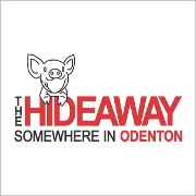 This is the restaurant logo for The Hideaway - Odenton