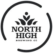 This is the restaurant logo for North High Brewing