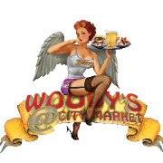 This is the restaurant logo for Woody's at City Market