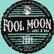 This is the restaurant logo for Fool Moon Grill and Bar