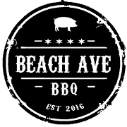 This is the restaurant logo for Beach Avenue BBQ