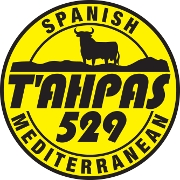 This is the restaurant logo for Tahpas 529