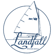 This is the restaurant logo for Landfall Restaurant