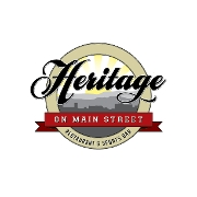 This is the restaurant logo for Heritage on Main Street