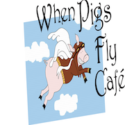 This is the restaurant logo for When Pigs Fly
