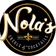 This is the restaurant logo for Nola's Creole & Cocktails Tulsa