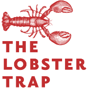 This is the restaurant logo for The Lobster Trap
