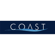 This is the restaurant logo for Coast Seafood Restaurant - Cos Cob