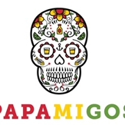 This is the restaurant logo for Papamigos