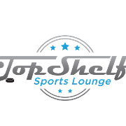 This is the restaurant logo for Top Shelf Sports Lounge