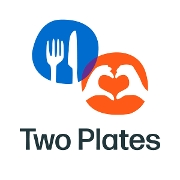 This is the restaurant logo for Two Plates Meal Delivery