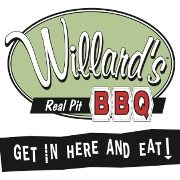 This is the restaurant logo for Willard's Real Pit BBQ