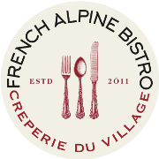 This is the restaurant logo for French Alpine Bistro