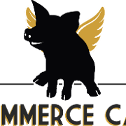 This is the restaurant logo for Commerce Cafe