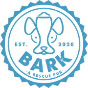 This is the restaurant logo for BARK, A Rescue Pub