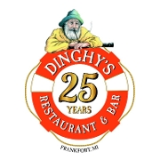 This is the restaurant logo for Dinghy's Restaurant & Bar