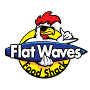 Restaurant logo for Flat Waves Food Shack