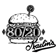 This is the restaurant logo for 80/20 at Kaelin's