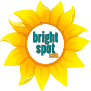 This is the restaurant logo for Bright Spot Cafe