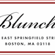 This is the restaurant logo for Blunch