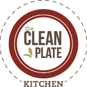 This is the restaurant logo for The Clean Plate Kitchen