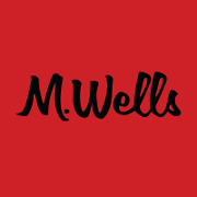 This is the restaurant logo for M. Wells