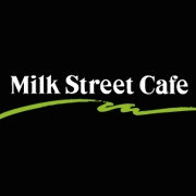 This is the restaurant logo for Milk St. Cafe