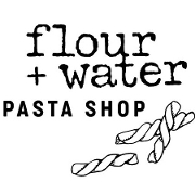 This is the restaurant logo for Flour+Water Pasta Shop