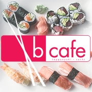 This is the restaurant logo for B Cafe