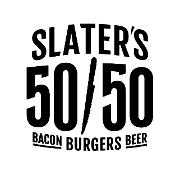 This is the restaurant logo for Slaters 50-50