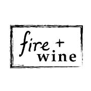 This is the restaurant logo for Fire+Wine