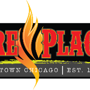 This is the restaurant logo for The Fireplace Inn