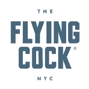 This is the restaurant logo for The Flying Cock