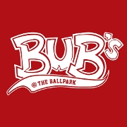 This is the restaurant logo for Bub's at the Ballpark