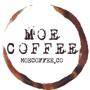 This is the restaurant logo for Moe Coffee-Northpark