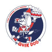 This is the restaurant logo for Quik Dog