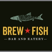 This is the restaurant logo for Brew Fish Bar & Eatery