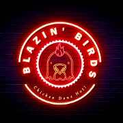 This is the restaurant logo for Blazin' Birds