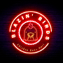 Restaurant logo for Blazin' Birds