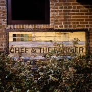 This is the restaurant logo for Chef & The Farmer