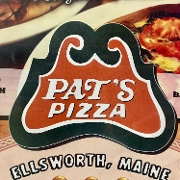 This is the restaurant logo for Pat's Pizza - Ellsworth