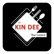 This is the restaurant logo for Kin Dee Thai Cuisine