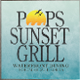 Restaurant logo for Pop's Sunset Grill