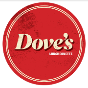 This is the restaurant logo for Dove's Luncheonette
