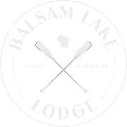 This is the restaurant logo for Balsam Lake Lodge & Supper Club