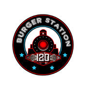 This is the restaurant logo for Burger Station 120